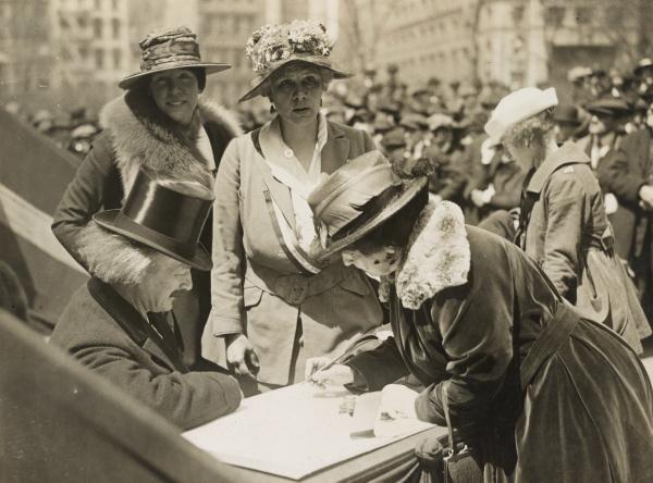 USA, 4 kwietnia 1918. Ignacy Jan Paderewski w trakcie zbiórki pieniędzy dla Polski Fot. National Archives & Records Administration