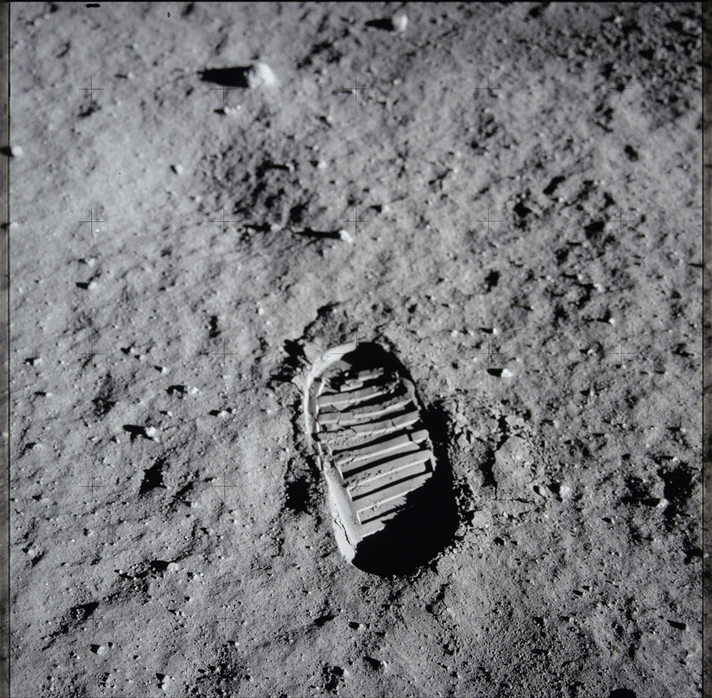 Morze Spokoju, Apollo 11, 20.07.1969. Fot. Buzz Aldrin/NASA