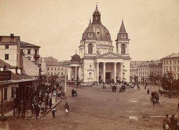 DI 36164; Brandel, Konrad (1838-1920) (fotograf); Warszawa (woj. mazowieckie); Warszawa. Kościół Św. Aleksandra.; ok. 1895; fotografia; papier fotograficzny, karton; 11,8 x 16,3