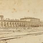 Warszawa, dworzec Kolei Warszawsko-Petersburskiej na Pradze, 1863.