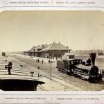Warszawa, dworzec Kolei Nadwiślańskiej na Pradze, 1877