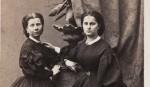 Portret Ludwiki i Anny Halpert w sukniach z czasów żałoby narodowej, 1862
