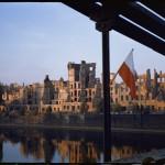 Wrocław, widok z mostu Grunwaldzkiego na miejsce w którym obecnie stoi gmach Instytutu Informatyki Uniwersytetu Wrocławskiego_89_mala