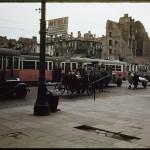 Warszawa, skrzyżowanie Al. Sikorskiego (obecnie Al. Jerozolimskie) i ulicy Nowy Świat